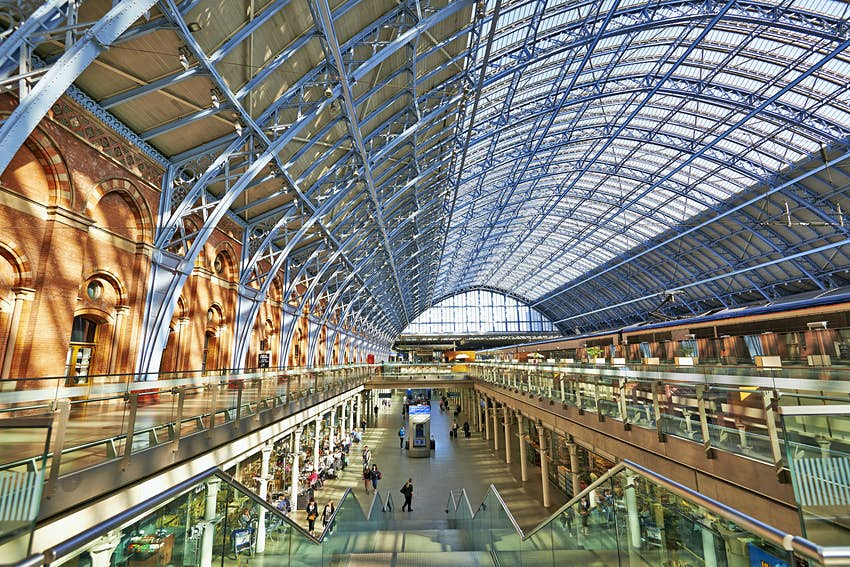 St Pancras Station interior.