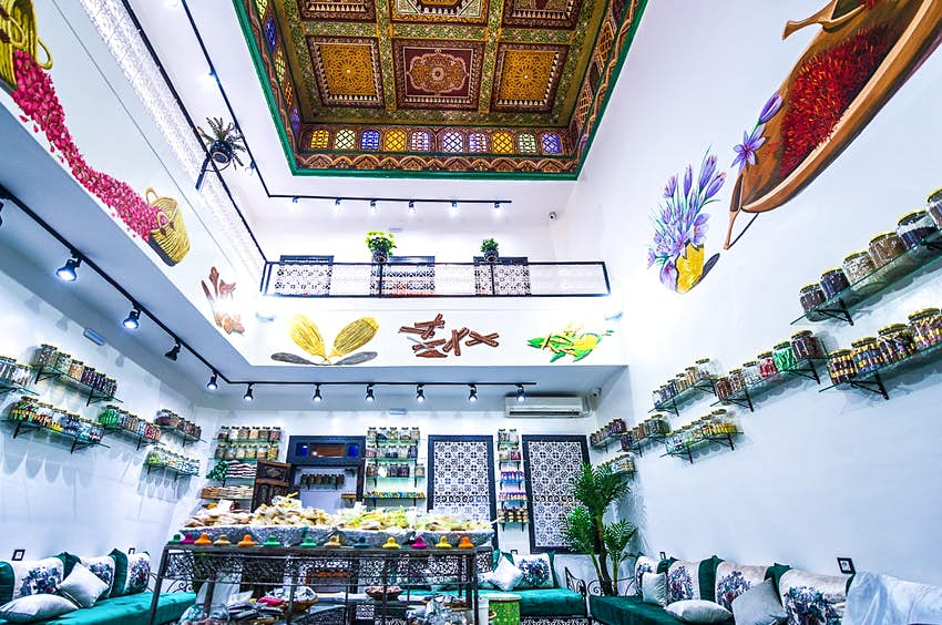 A herbal shop in Marrakesh