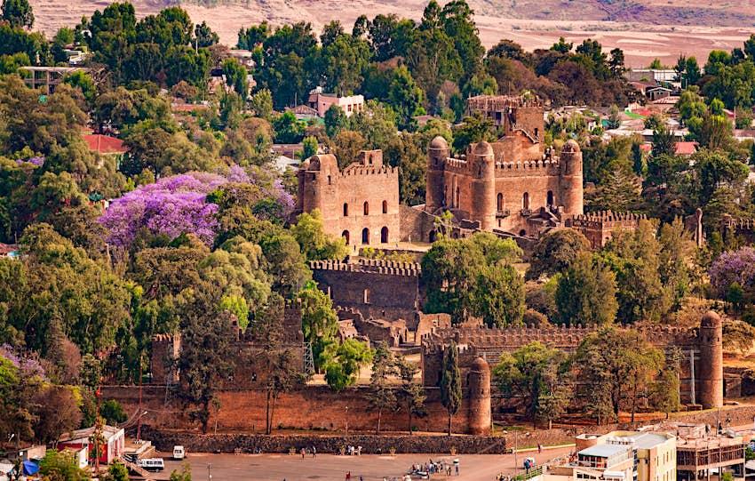 Fasil Ghebbi in Gondar, Ethiopia.