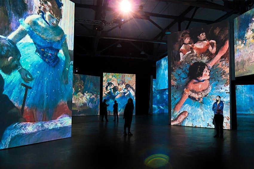 Инсталляция на выставке Monet & Friends - Life, Light & Color.