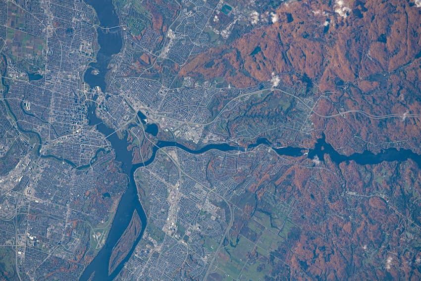 Una imagen satelital de Ottawa tomada por la NASA