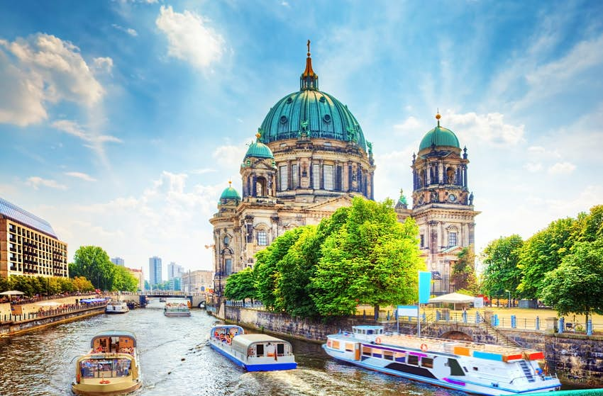 Exterior of the Berlin Cathedral on the Museum Island in Mitte.
