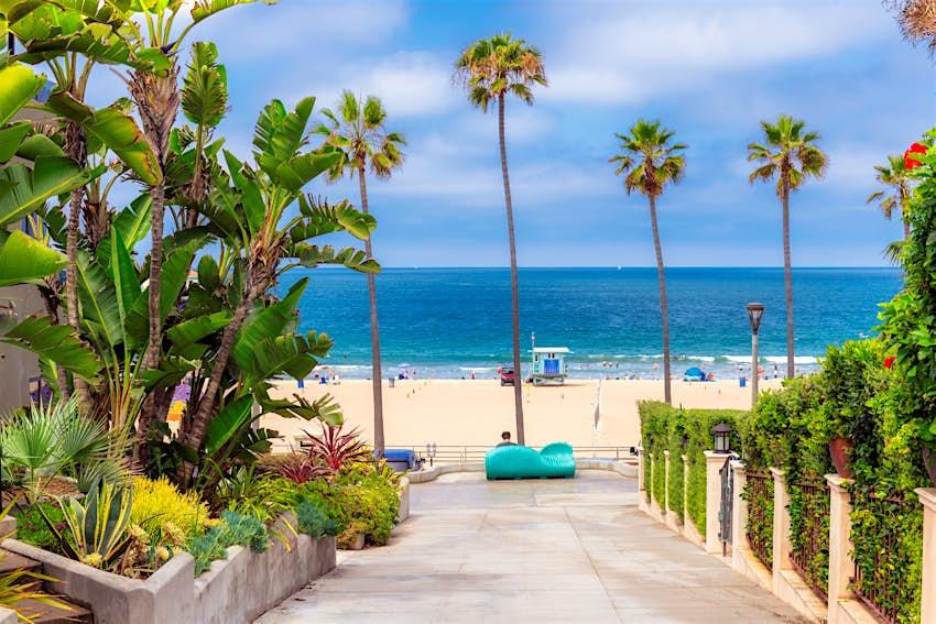 California beach at sunny day