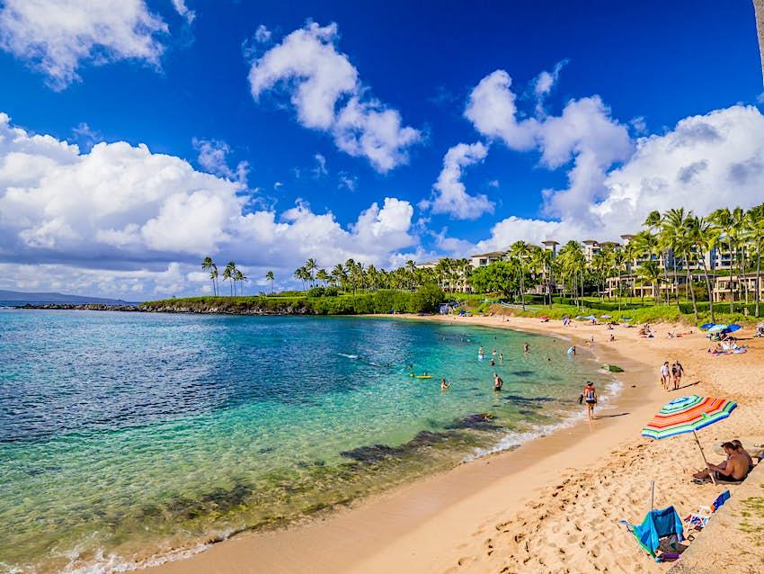 Kapalua beach bay, Maui, Hawaiian Islands