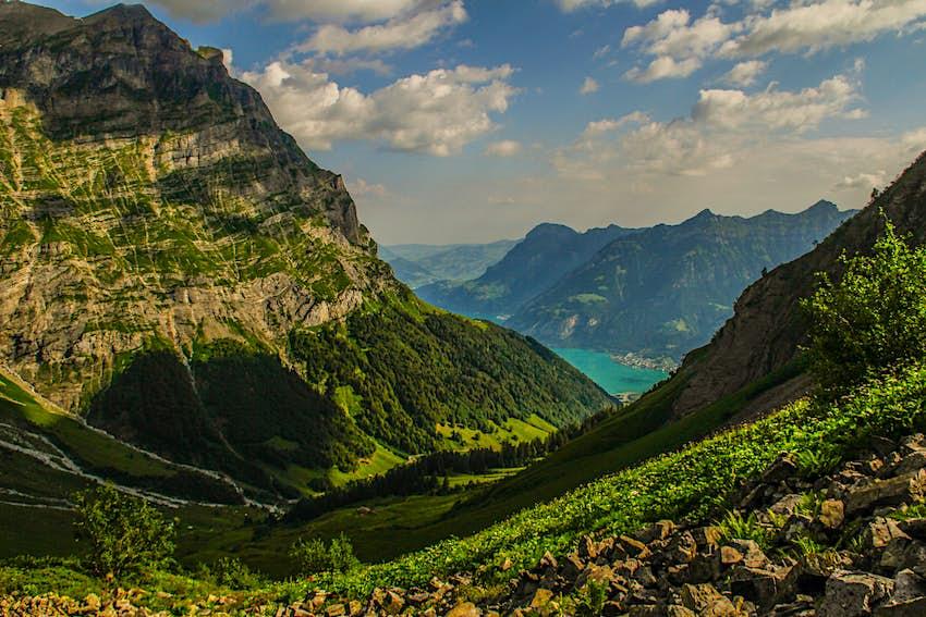 A pretty Engelberg view in Swiss Alps