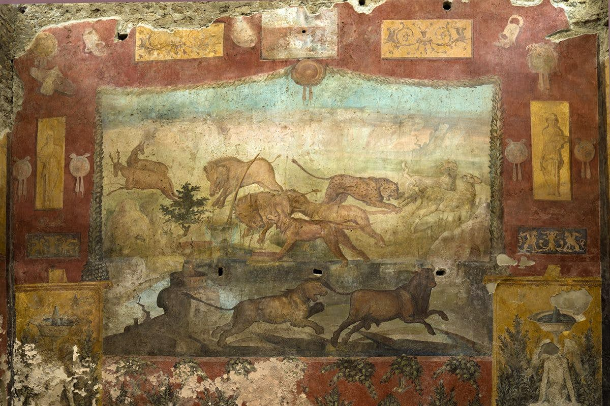 One of the oldest frescoes in Pompeii has undergone a dramatic restoration