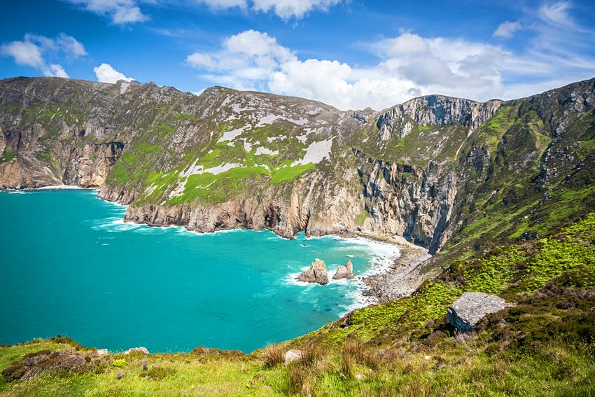 The Slieve League sea cliffs in Donegal, Ireland