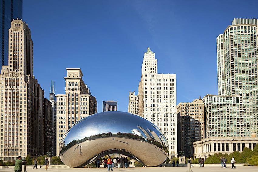"""Cloud Gate (better known as """"the Bean"""") in Millennium Park, Chicago"""