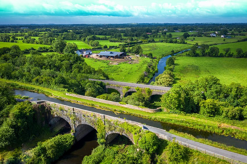 An aerial view of the Royal Canal Greenway in Meath
