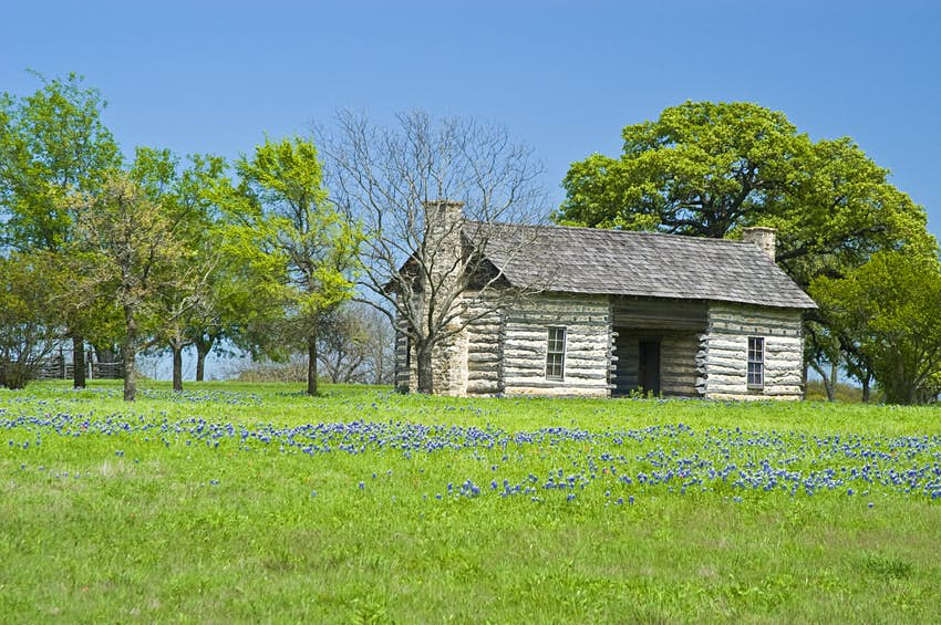 Log Cabin on LBJ Ranch near Johnson City, Texas
