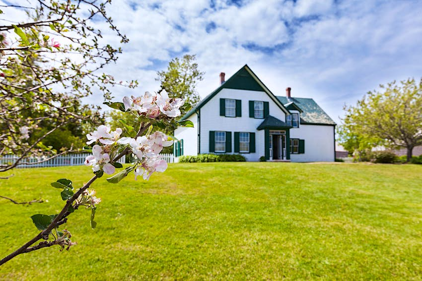 House at the National Park in Cavendish on Prince Edward Island that the author L. M. Montgomery used as a setting for her Anne of Green Gables novel.