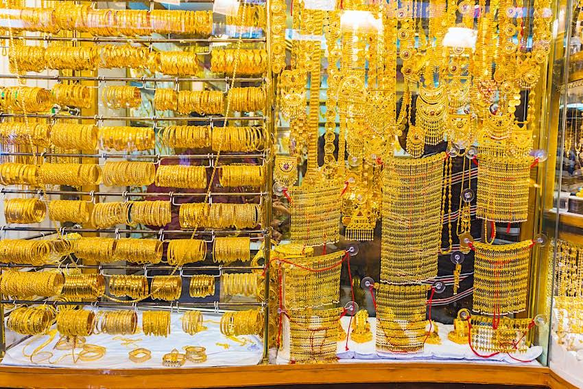 Deira Gold Souq gold market in Dubai