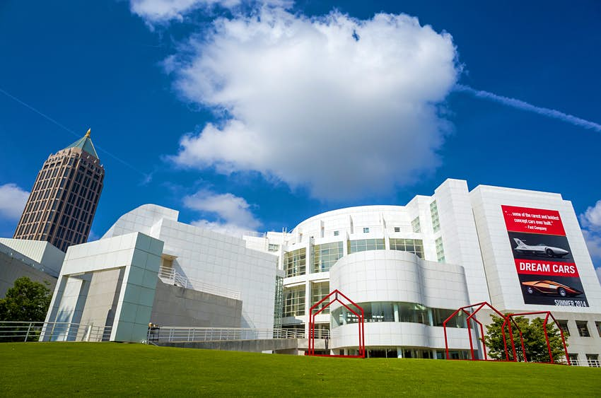 Exterior of the High Museum of Art on Peachtree Street in Midtown Atlanta