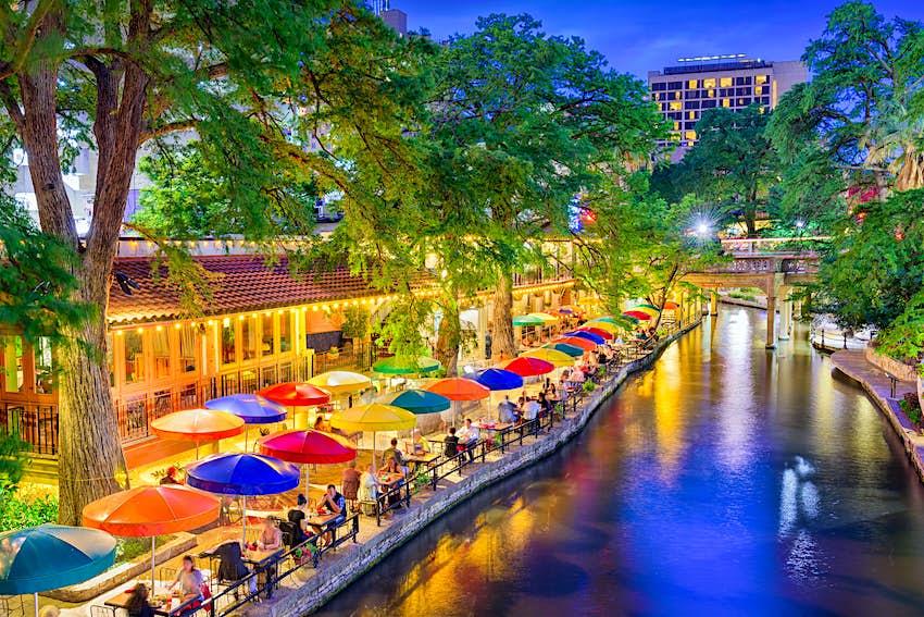 Restaurants along the River Walk in San Antonio, Texas