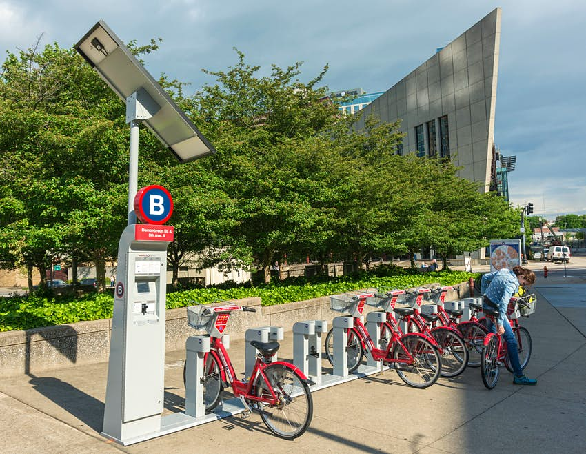 Tennessee, Nashville, Downtown, Nashville B-cycle, bicycle rental location