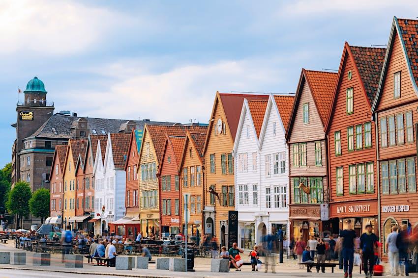 Cityscape of Bergen, Norway.