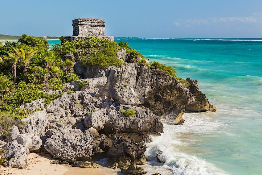 Ruinas mayas de Tulum, Rivera Maya, Quintana Roo, México.