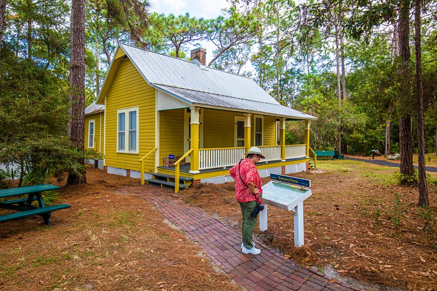 Greenwood House in historic old Heritage Village in Pinellas County in Largo Florida