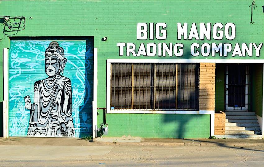 Exterior of the Big Mango Trading Company Store in the Dallas Design District