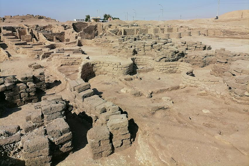 Ruins of the Palace of the Dazzling Aten in Egypt