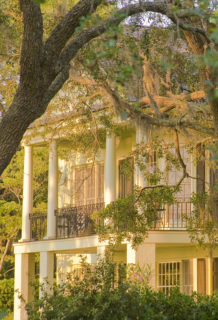 Historic home architecture in Beaufort, South Carolina