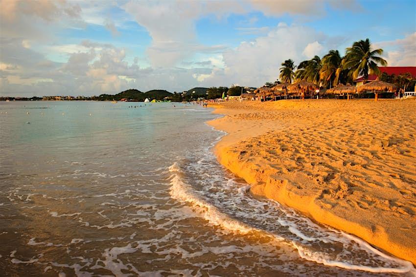 Sunset on Reduit Beach, Gros Islet, Saint Lucia
