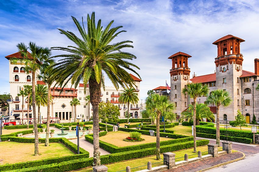 Spanish colonial revival architecture in St Augustine