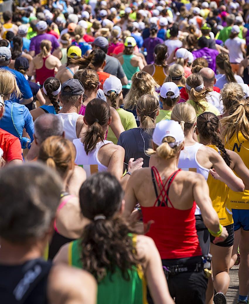 500px Photo ID: 93363555 - Lots of women running the Boston Marathon 2014 in Massachusetts, USA.