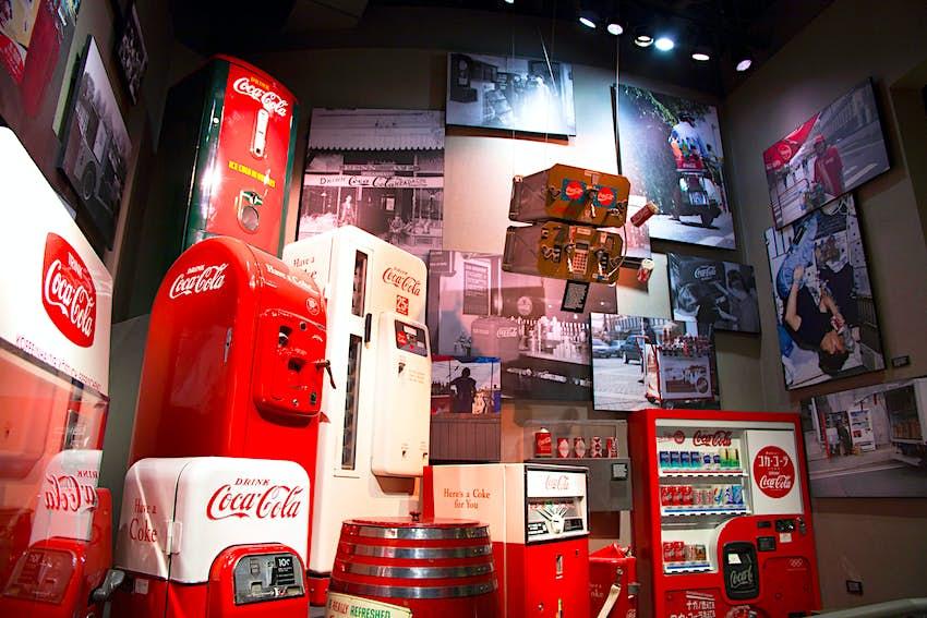 Coca-Cola memorabilia from around the world at the World of Coca-Cola in Atlanta Georgia