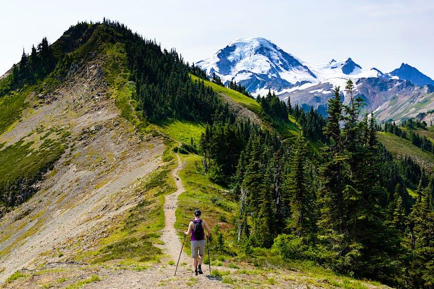Skyline Divide hiking trail, Mt. Baker-Snoqualmie National Forest, Washington, United States.