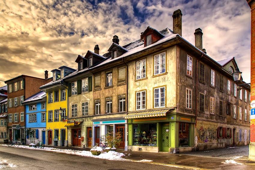 Blick von der Neustadtgasse in Winterthur, Schweiz