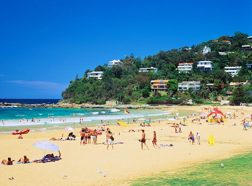 Australia,New South Wales,Sydney, people on Palm Beach