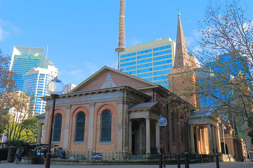 Exterior of St James' Church, Sydney