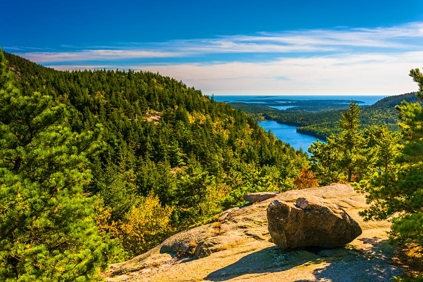 View from North Bubble in Acadia National Park, Maine