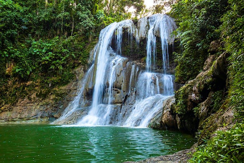 Image of Gozalandia Waterfall in San Sebastian Puerto Rico