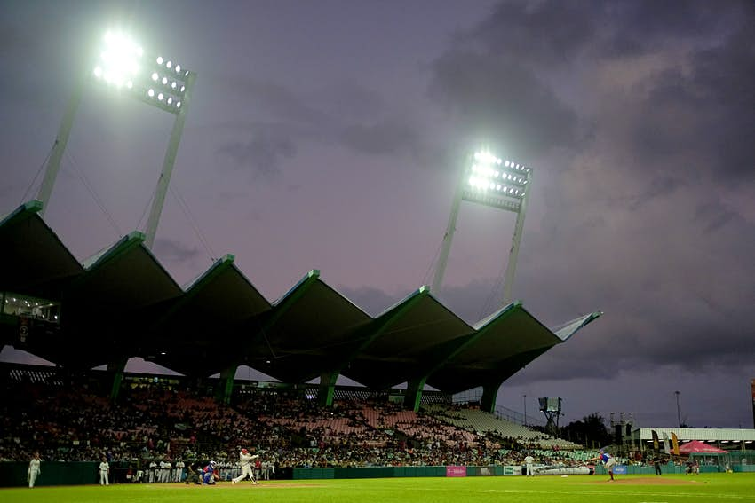 General view of the Hiram Bithorn stadium during the Caribbean Series baseball tournament game between Puerto Rico and Mexico in San Juan