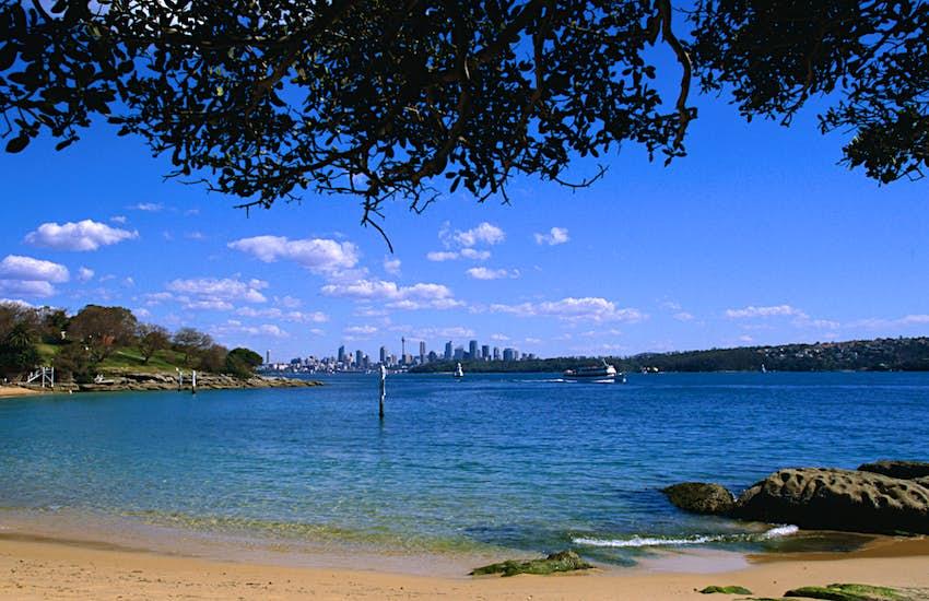 Shoreline at Camp Cove in Sydney, Australia