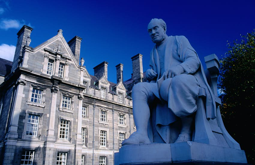 Statue of George Salmon, provost 1888-1904, at Trinity College. ©Olivier Cirendini/Lonely Planet