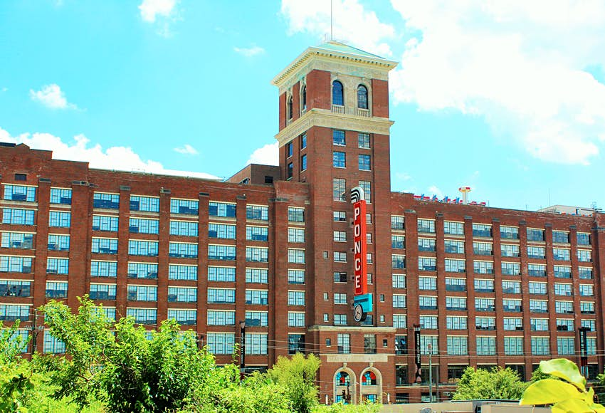 Exterior of Ponce City Market during summer