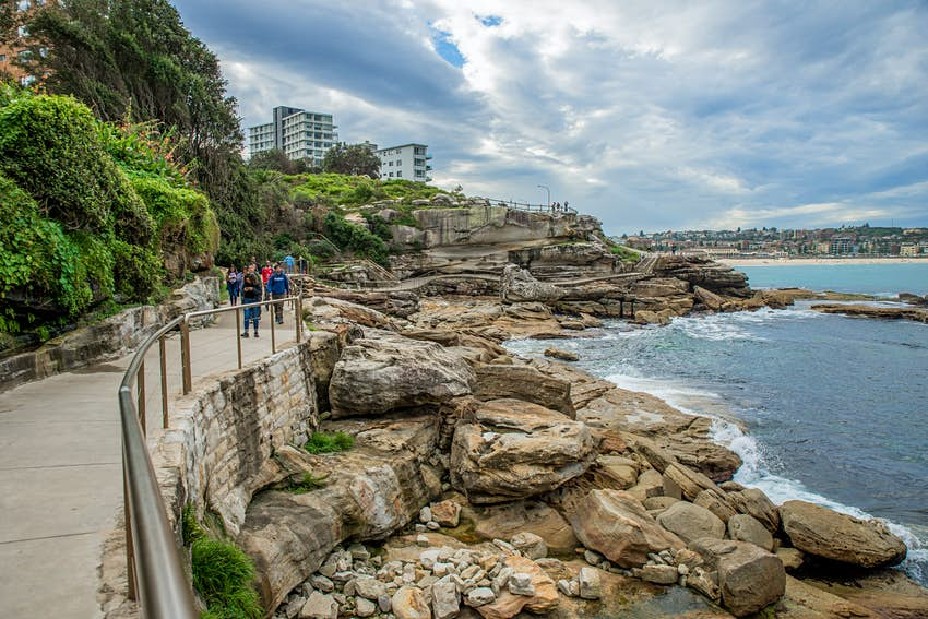 Walkers on the Bondi to Coogee Walk in Sydney