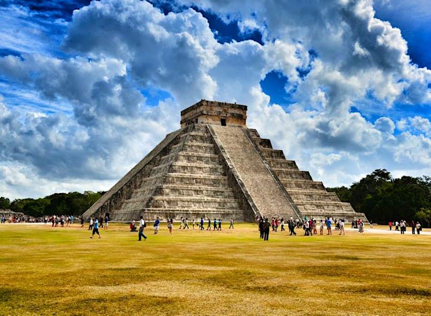 The El Castillo pyramid at Chichen Itza in Mexico