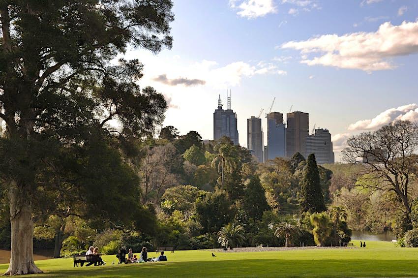 Melbourne skyline from the Royal Botanic Gardens
