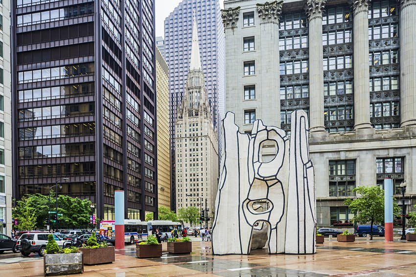 """Public artwork """"Monument with Standing Beast"""" by Jean Dubuffet in Chicago"""
