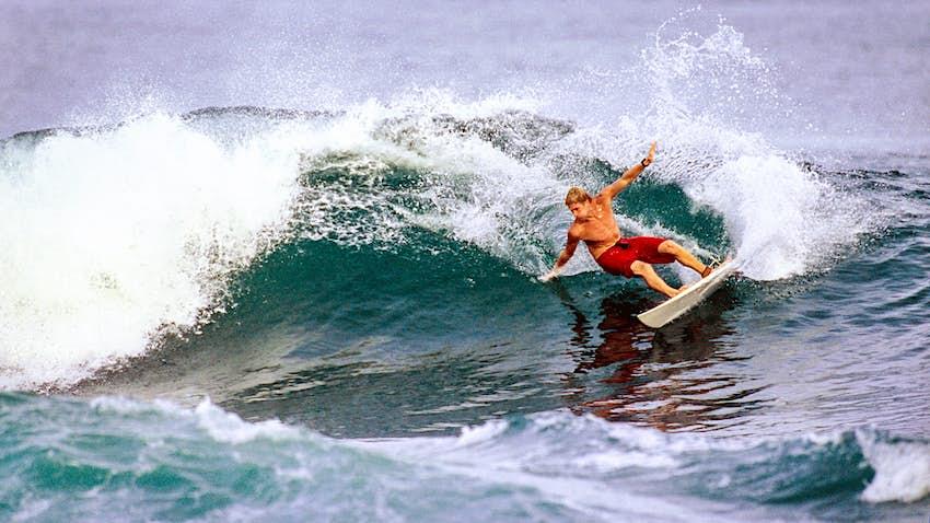 A surfer in Bocas del Toro