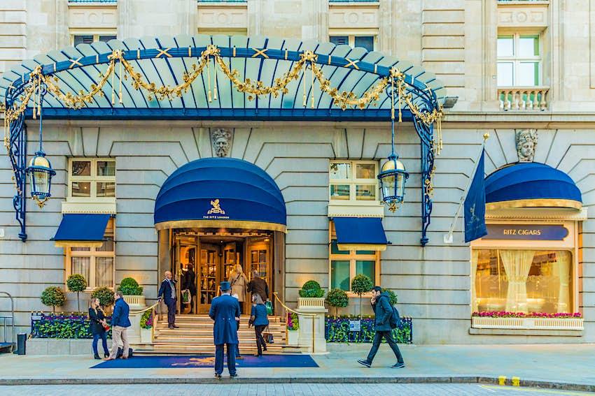 Facade of the Ritz Hotel in London
