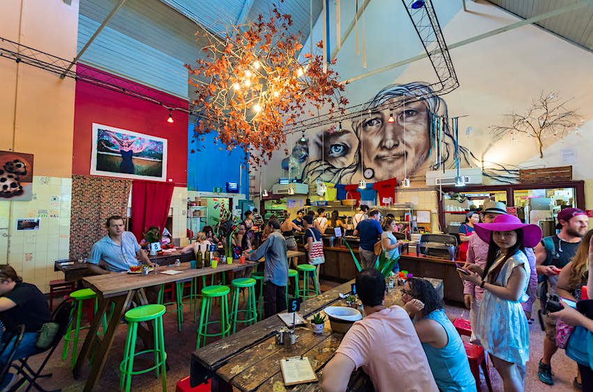 Inside Lentil As Anything at Abbotsford Convent