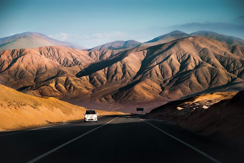 Đường cao tốc Panamerican, Antofagasta, Chile.