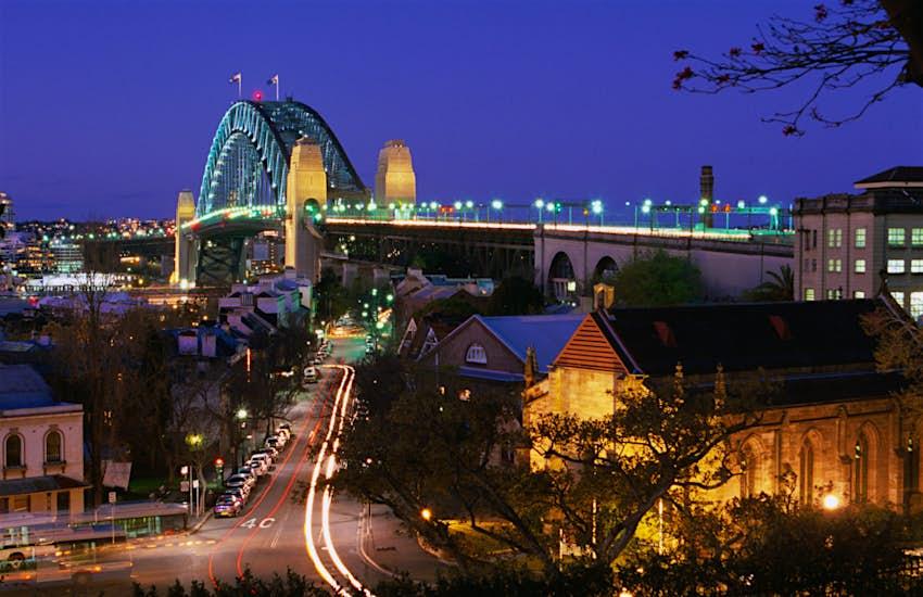 Miller's Point và Cầu cảng Sydney vào lúc hoàng hôn