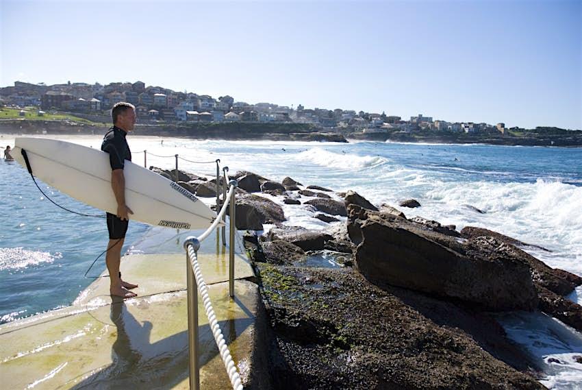 Surfer at Sydney's Bronte Beach