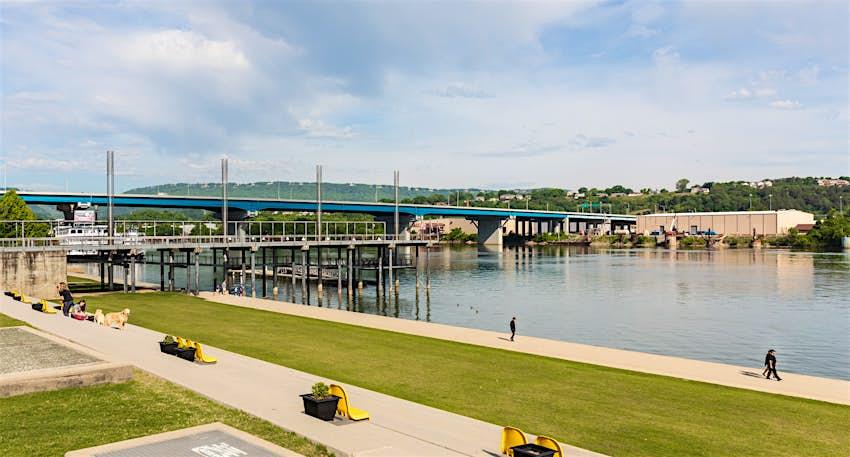 The 13-mile-long Tenessee Riverwalk